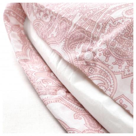 Пододеяльник и 2 наволочки ЙЭТТЕВАЛЛМО белый, розовый фото 2